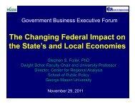 Govt Business Executive Forum.pdf - Center for Regional Analysis
