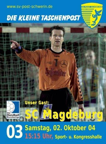 SC Magdeburg - SV Post Schwerin - Handball-Bundesliga