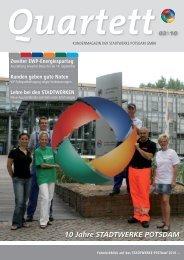 Quartett 3/2010 zum Download - Stadtwerke Potsdam