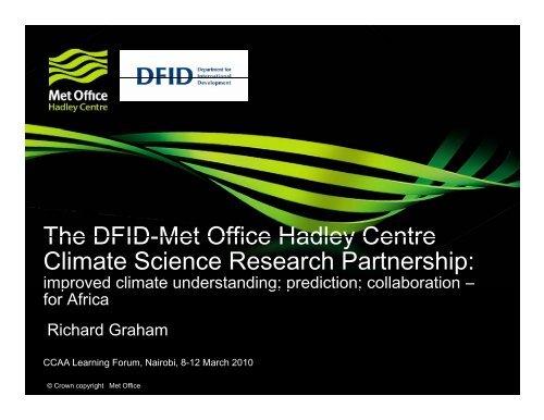 Hadley Centre - DFID partnership - Africa Adapt