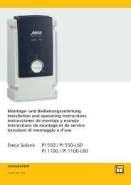 Steca Solarix PI 550 / PI 550-L60 PI 1100 / PI 1100-L60