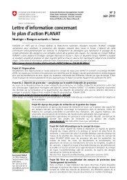 Lettre d'information concernant le plan d'action PLANAT - N°3/Juin ...