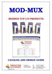 mod-mux modbus tcp i/o products catalog and design guide