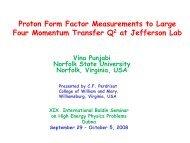 Proton Form Factor Measurements to Large Four Momentum ... - JINR