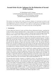 Second Order Krylov Subspace for the Reduction of Second Order ...