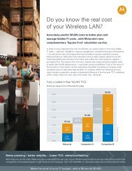 Do you know the real cost of your Wireless LAN? - Motorola Two ...