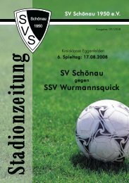 SV Schönau SSV Wurmannsquick