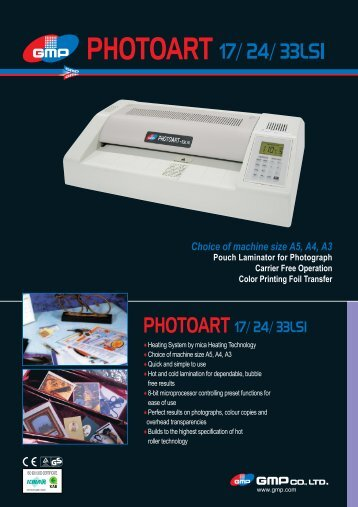 Choice of machine size A5, A4, A3 Pouch Laminator for Photograph ...