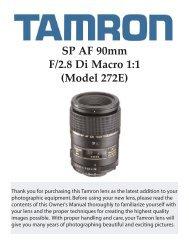 SP AF 90mm F/2.8 Di Macro 1:1 (Model 272E) - Tamron
