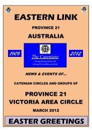 13th Eastern Link - Province 20 Catenians of Western Australia
