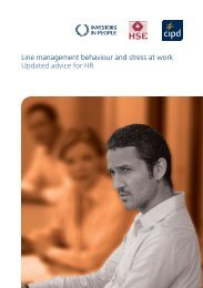Line management behaviour and stress at work Updated ... - CIPD