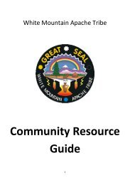 Community Resource Guide - White Mountain Apache Housing ...