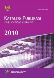 Katalog Publikasi BPS 2010 - Badan Pusat Statistik