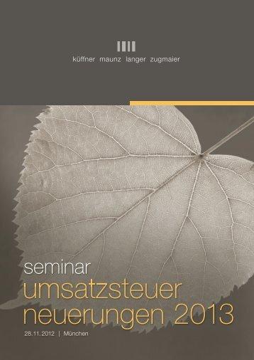 RZ-USt-Neuerungen-2013_ch3_Layout 1 - KMLZ