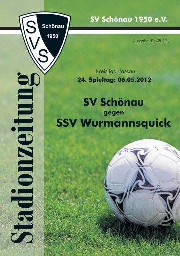 SSV Wurmannsquick - SV Schönau