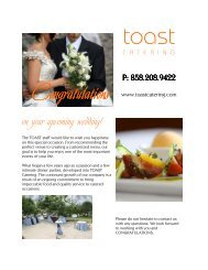 Wedding Packages - TOAST Catering