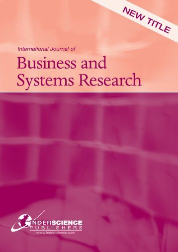 Business and Systems Research - Gonzaga University
