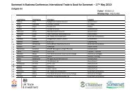 PDF of Delegates List Somerset in Business Conference 2013