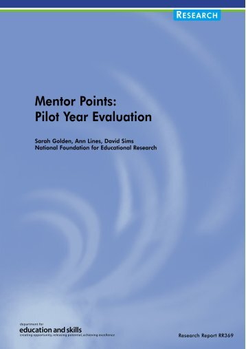 Mentor Points: Pilot Year Evaluation - Department for Education