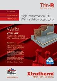 Thin-R XT/TL-MF Brochure Download PDF - Xtratherm