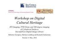 Workshop on Digital Cultural Heritage - LinkSCEEM