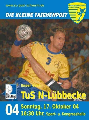 TuS N-Lübbecke - SV Post Schwerin - Handball-Bundesliga