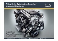 Firing Order Optimization Based on Integrated Simulation