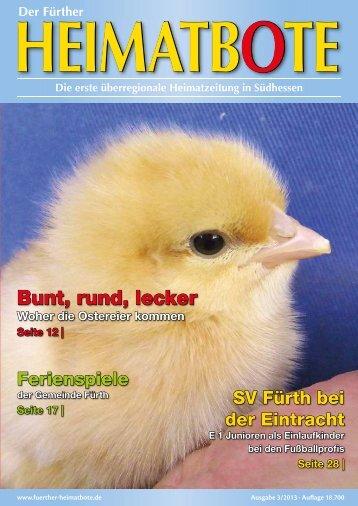 Bunt, rund, lecker - Der Fürther Heimatbote