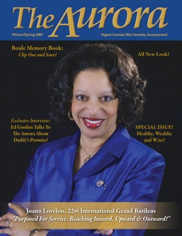 Joann Loveless, 22nd International Grand Basileus - Sigma Gamma ...