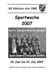 Sportwoche 2007 - SV Hönisch