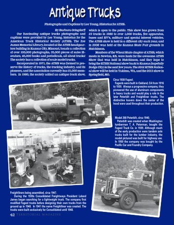 Antique Trucks - Territorial Magazine