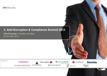 3. Anti-Korruption & Compliance Summit 2012 Villa Kennedy - Sybase