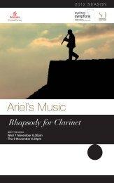 Ariel's Music: Rhapsody for Clarinet - Sydney Symphony Orchestra
