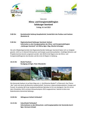 Klima- und Energiemodellregion Salzburger Seenland - e5-Salzburg