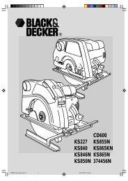 Instruction Manual (Européen) - Black & Decker
