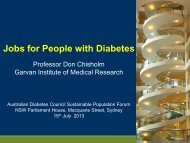 Jobs for People with Diabetes - Australian Diabetes Council