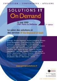 IT On Demand et SaaS Le salon des solutions et ... - Groupe Solutions