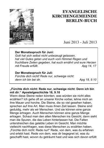 EVANGELISCHE KIRCHENGEMEINDE BERLIN-BUCH