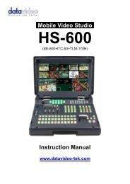 Product Manual - Datavideo