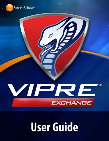 VIPRE Email Security for Exchange: User's Guide - Sunbelt Software