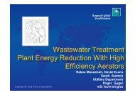 Wastewater Treatment Plant Energy Reduction With High Efficiency ...