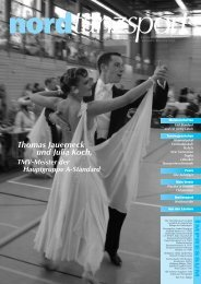 Thomas Jauerneck und Julia Koch, - Deutscher Tanzsportverband eV