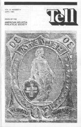 officers - American Helvetia Philatelic Society