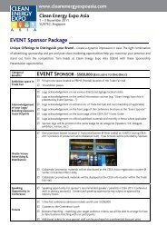 EVENT Sponsor Package - Clean Energy Expo