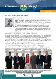 Wannsee Brief April 2013 - Der Golf- und Land-Club Berlin ...