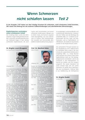 Wenn Schmerzen nicht schlafen lassen Teil 2 - Unfall-Opfer-Bayern ...