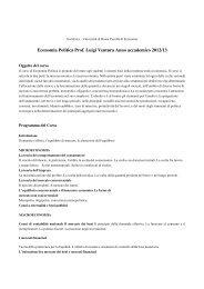 Economia Politica Prof. Luigi Ventura Anno ... - Dipecodir.it