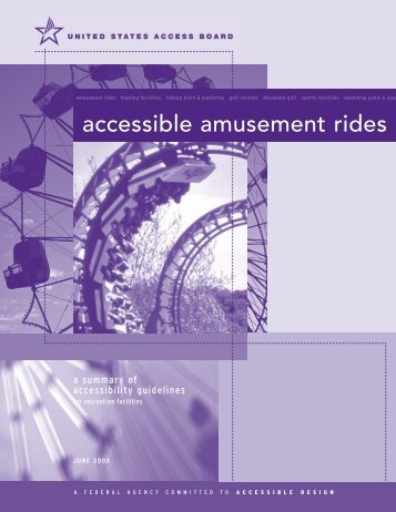 accessible amusement rides - United States Access Board
