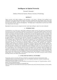 Intelligence in Optical Networks