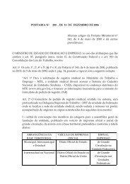 Portaria Nº 200, de 15/12/2006 - Ministério do Trabalho e Emprego